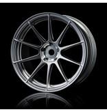 MST 5H Wheel (4pcs) / Color: Flat Silver