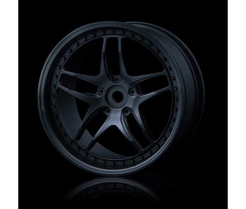 MST FB Wheel (4) / Flat Black