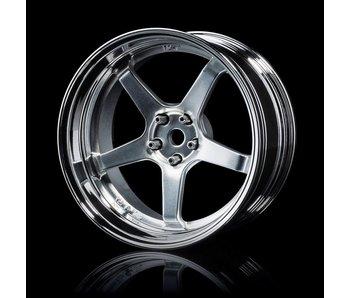 MST GT Wheel Set - Adj. Offset (4) / Flat Silver-Silver