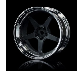 MST GT Wheel Set - Adj. Offset (4) / Flat Black-Silver