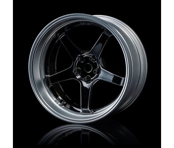 MST GT Wheel Set - Adj. Offset (4) / Silver Black-Flat Silver