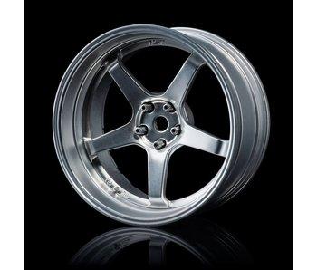 MST GT Wheel Set - Adj. Offset (4) / Flat Silver-Flat Silver