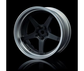 MST GT Wheel Set - Adj. Offset (4) / Flat Black-Flat Silver