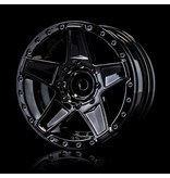 MST 648 Wheel (4pcs) / Color: Silver Black (Dark Chrome)