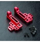 MST Aluminium Upper Bulkhead Right & Left / Color: Red