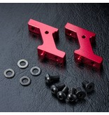 MST Aluminium Vertical Low Profile Servo Mount / Color: Red