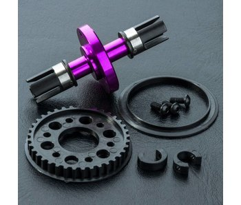 MST RMX Alum. Solid Axle Set / Purple - DISCONTINUED