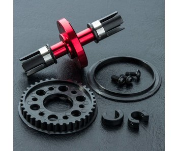 MST RMX Alum. Solid Axle Set / Red - DISCONTINUED