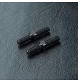 MST Aluminium Reinforced Turnbuckle φ3mm x 20mm (2pcs) / Color: Black