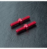 MST Aluminium Reinforced Turnbuckle φ3mm x 20mm (2pcs) / Color: Red