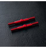 MST Aluminium Reinforced Turnbuckle φ3mm x 36mm (2pcs) / Color: Red