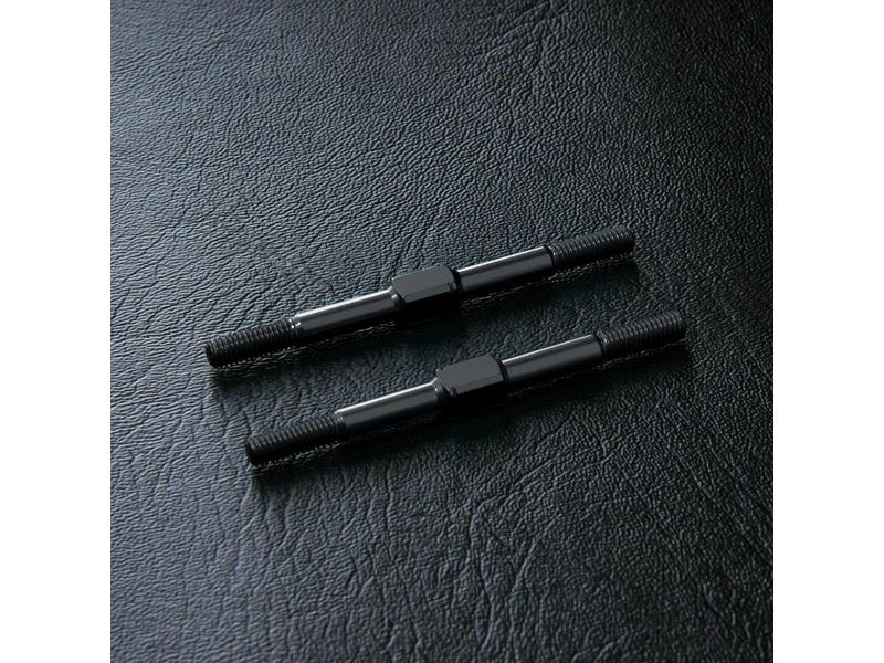 MST Aluminium Reinforced Turnbuckle φ3mm x 44mm (2pcs) / Color: Black