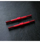 MST Aluminium Reinforced Turnbuckle φ3mm x 44mm (2pcs) / Color: Red