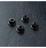 MST Aluminium Wheel Nut (4pcs) / Color: Black