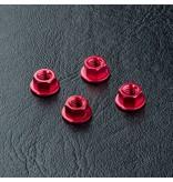 MST Aluminium Wheel Nut (4pcs) / Color: Red