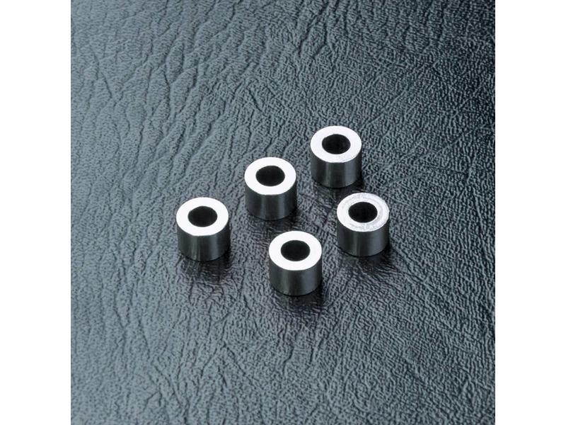 MST Aluminium Spacer φ3.0mm x φ5.5mm x 4.0mm (5pcs) / Color: Silver