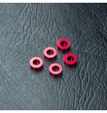 MST Aluminium Spacer φ3.0mm x φ5.5mm x 2.0mm (5pcs) / Color: Red