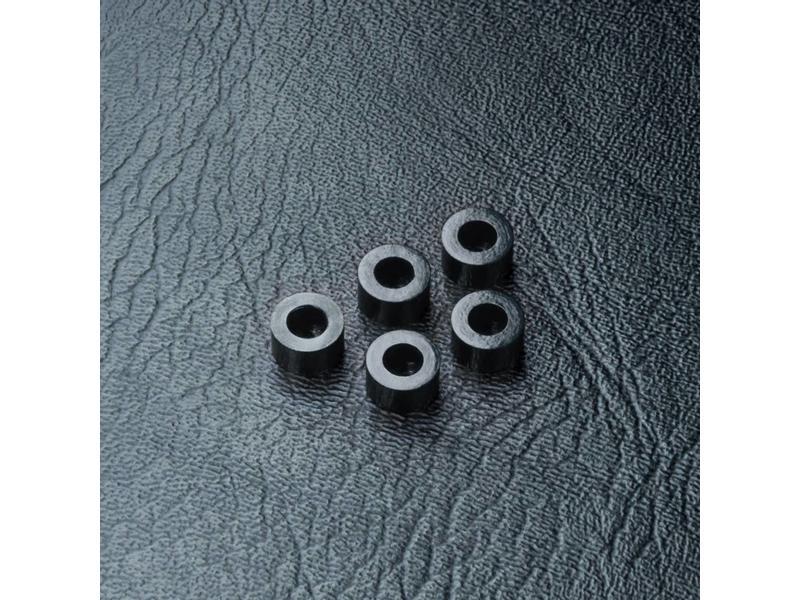 MST Aluminium Spacer φ3.0mm x φ5.5mm x 3.0mm (5pcs) / Color: Black