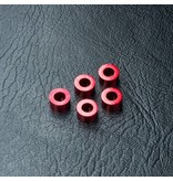 MST Aluminium Spacer φ3.0mm x φ5.5mm x 3.0mm (5pcs) / Color: Red