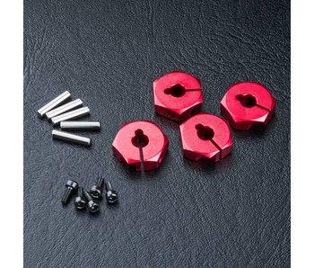 MST Alum. Hex Wheel Hubs 4mm (4) / Red
