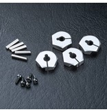 MST Aluminium Hex Wheels Hubs 4mm (4pcs) / Color: Silver