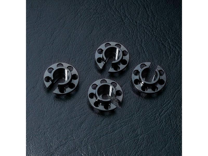 MST Aluminium Damper Retainer - Small (4pcs) / Color: Black