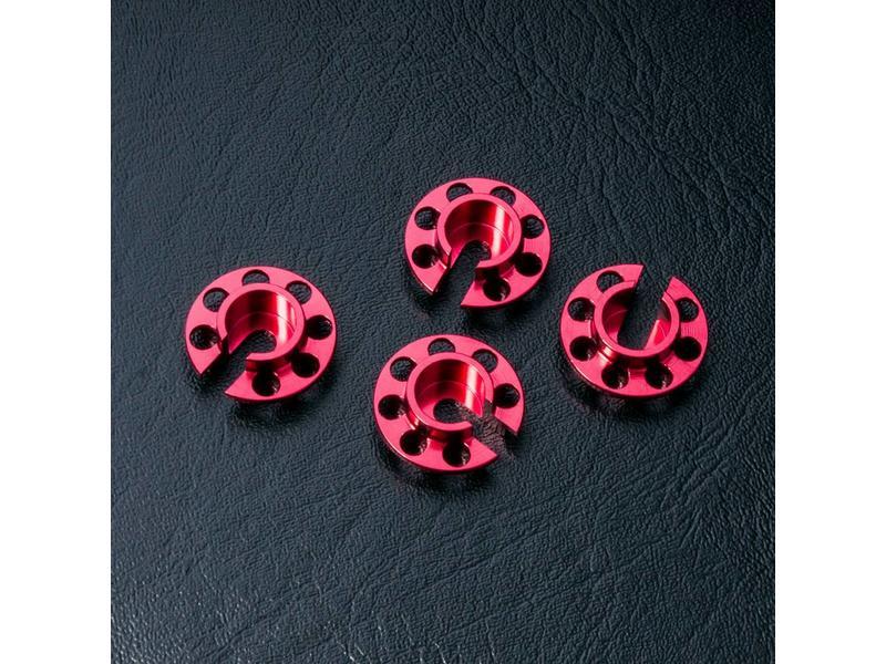 MST Aluminium Damper Retainer - Small (4pcs) / Color: Red