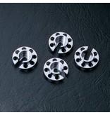 MST Aluminium Damper Retainer - Small (4pcs) / Color: Silver