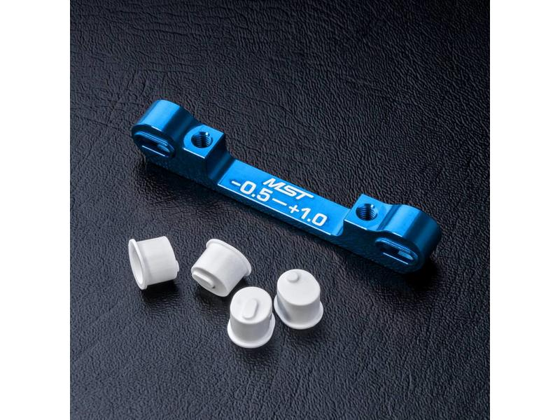 MST Aluminium Adjustable Suspension Mount -0.5 ~ +1.0 / Color: Blue
