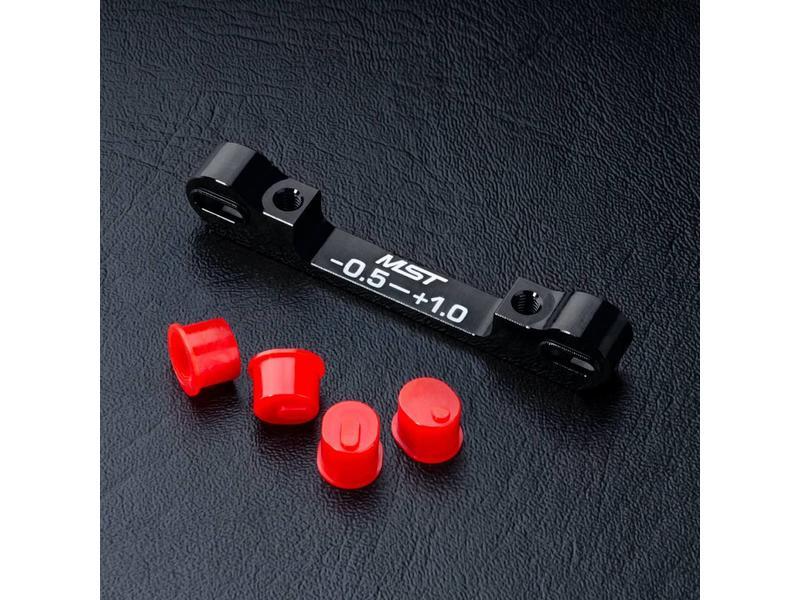 MST Aluminium Adjustable Suspension Mount -0.5 ~ +1.0 / Color: Black