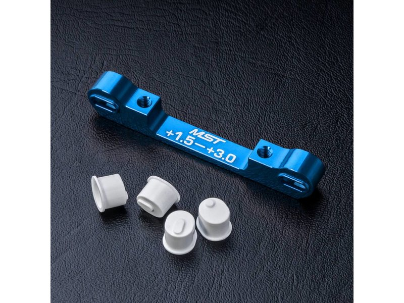MST Aluminium Adjustable Suspension Mount +1.5 ~ +3.0 / Color: Blue