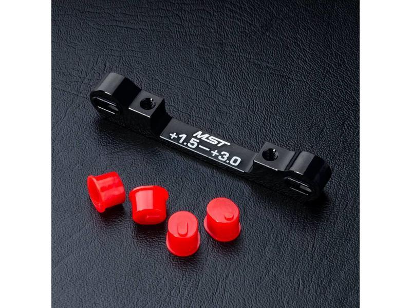 MST Aluminium Adjustable Suspension Mount +1.5 ~ +3.0 / Color: Black