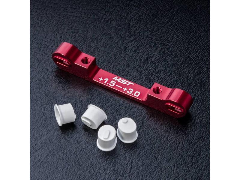 MST Aluminium Adjustable Suspension Mount +1.5 ~ +3.0 / Color: Red