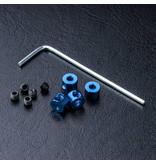 MST Aluminium Stabilizer Rod Stopper (4) / Blue