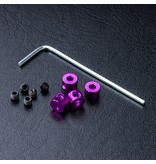 MST Aluminium Stabilizer Rod Stopper (4) / Purple