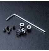 MST Aluminium Stabilizer Rod Stopper (4) / Silver
