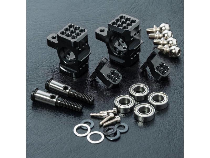 MST AKM Aluminium Upright - 2WD (2pcs) / Color: Black - DISCONTINUED