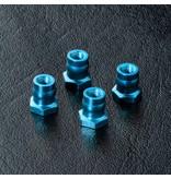 MST Aluminium Ball Connector Nut φ4.8mm (4pcs) / Color: Blue