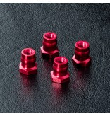MST Aluminium Ball Connector Nut φ4.8mm (4pcs) / Color: Red