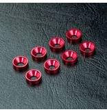 MST Aluminium Countersunk Spacer M3 (8pcs) / Color: Red