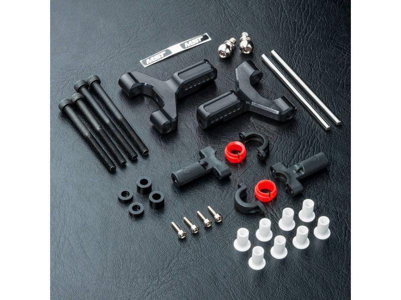 MST Aluminium Front Lower Arm Set / Color: Black