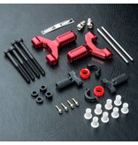 MST Aluminium Front Lower Arm Set / Color: Red