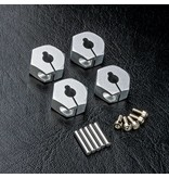 MST Aluminium Hex Wheels Hubs 6mm (4pcs) / Color: Silver