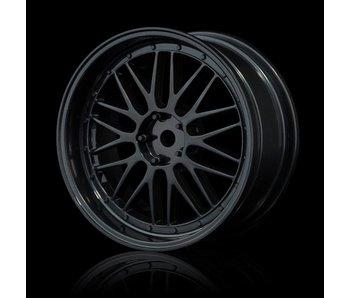 MST LM Wheel Set - Adj. Offset (4) / Black-Black