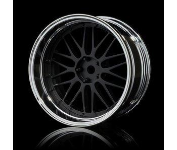 MST LM Wheel Set - Adj. Offset (4) / Flat Black-Silver