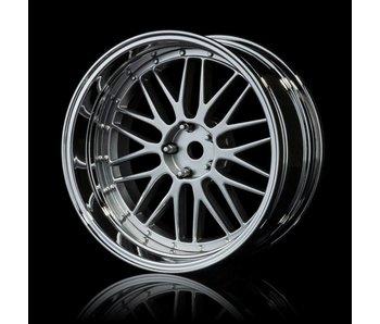 MST LM Wheel Set - Adj. Offset (4) / Flat Silver-Silver