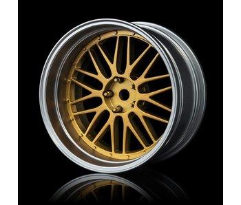 MST LM Wheel Set - Adj. Offset (4) / Gold-Flat Silver