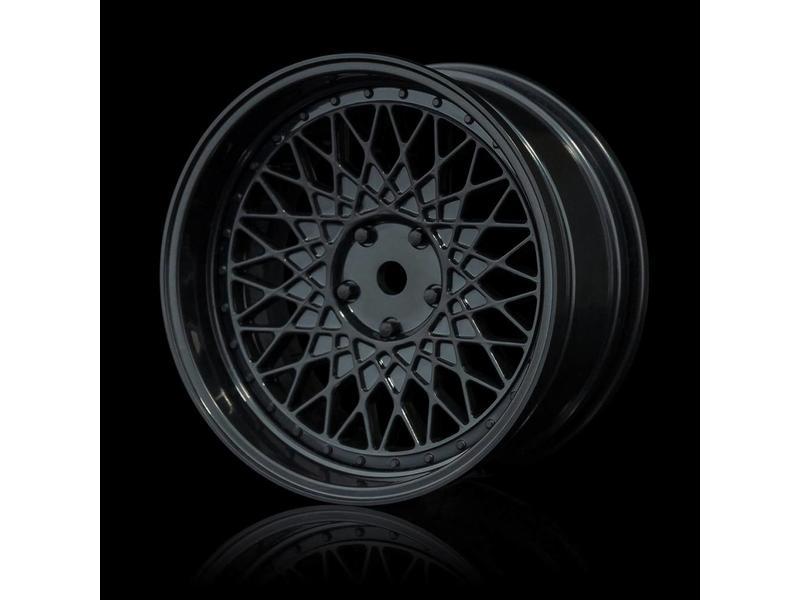 MST 501 Wheel Set - Adjustable Offset (4pcs) / Color: Black - Black