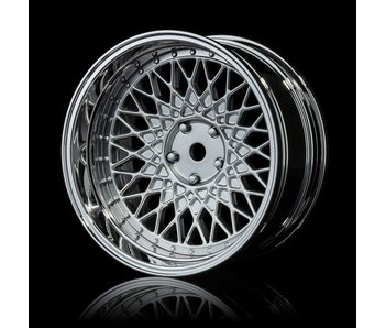MST 501 Wheel Set - Adj. Offset (4) / Flat Silver-Silver