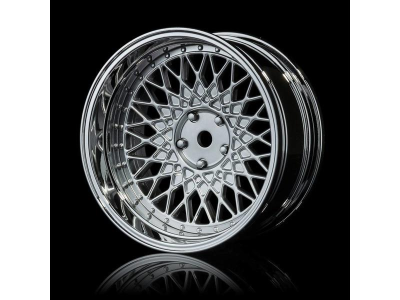 MST 501 Wheel Set - Adjustable Offset (4pcs) / Color: Flat Silver - Silver (Chrome)